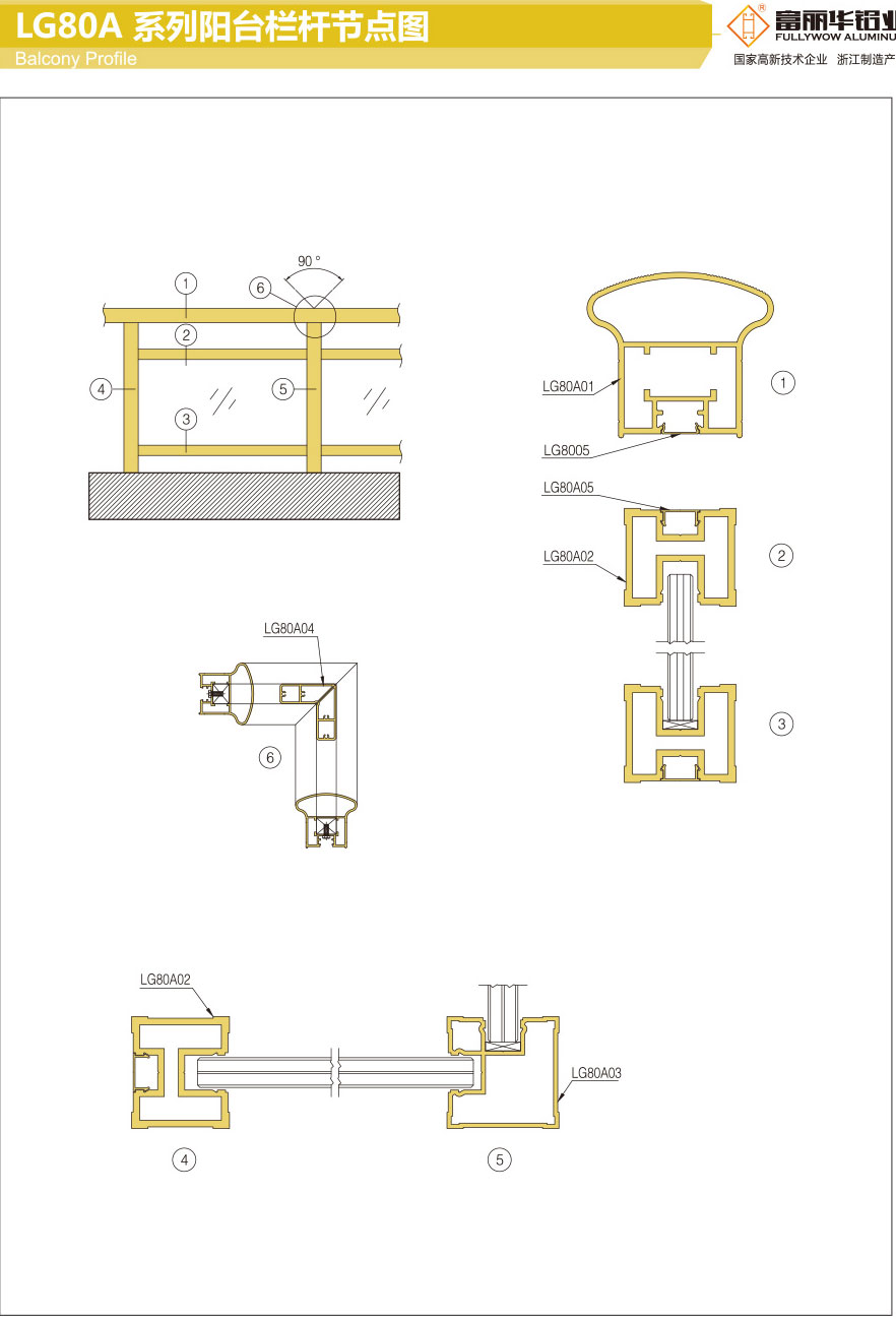 LG80A系列阳台栏杆