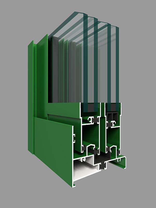 ZJ90W系列注胶隔热推拉窗