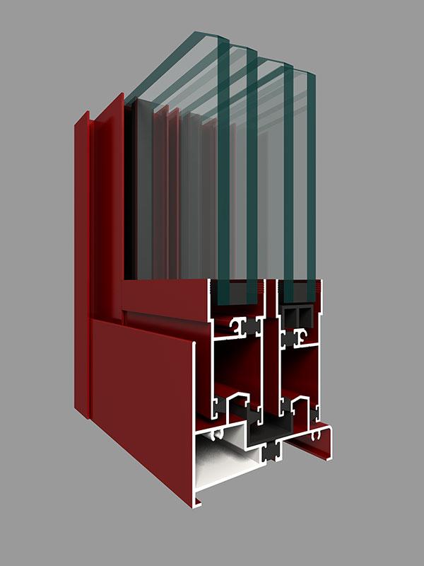 ZJ85W系列注胶隔热推拉窗