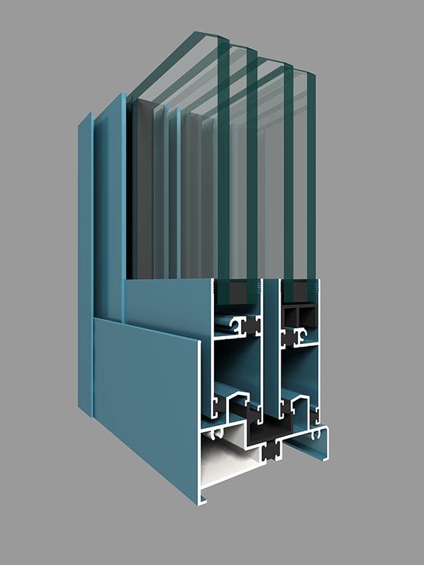 ZJ80W系列注胶隔热推拉窗