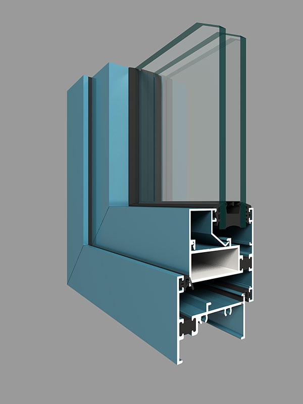 ZJ50D系列注胶隔热平开窗