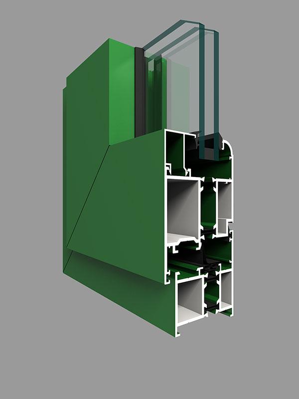 GRM65D系列穿条隔热平开门