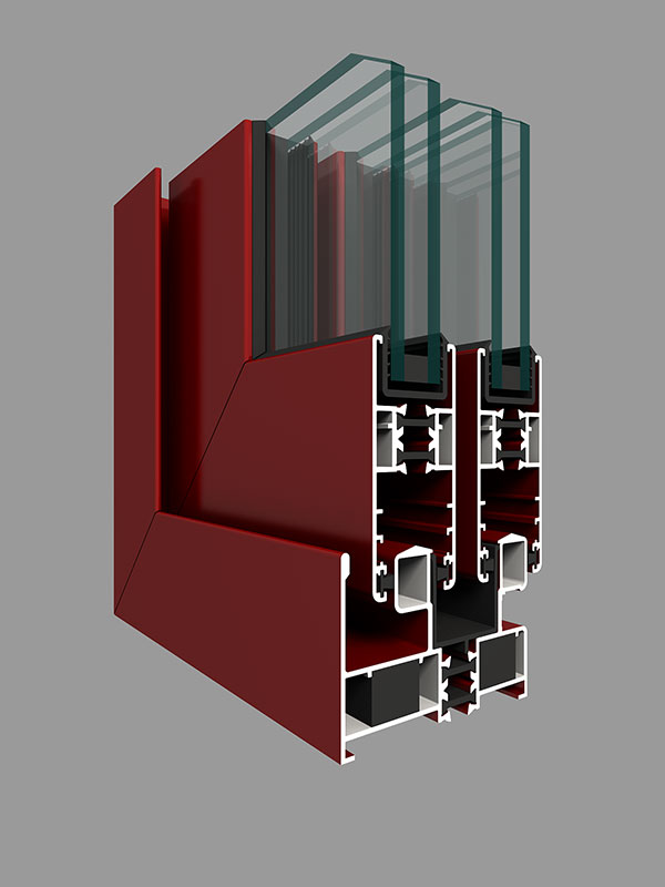 GR65系列穿条隔热二轨推拉窗