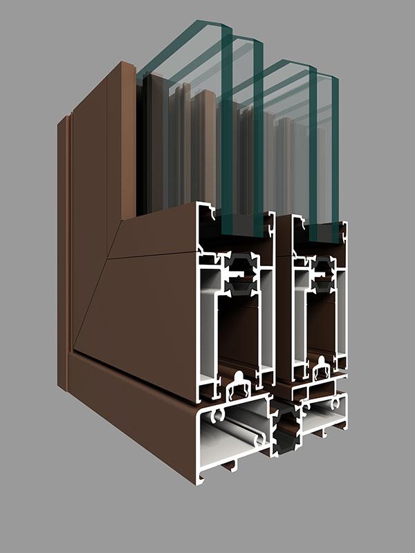 GR120W-B款系列提升穿条隔热纱内窗外式金钢网