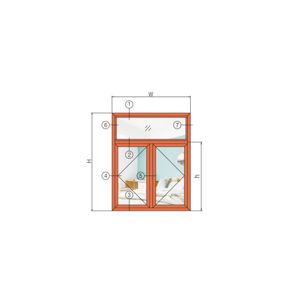 GR120W-A款系列提升穿条隔热纱内窗外式一体窗