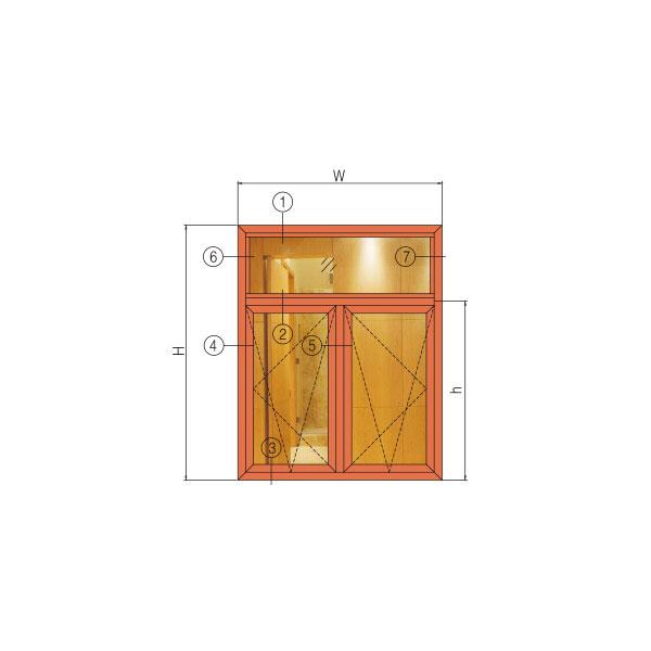 GR65W系列穿条隔热内(外)开窗
