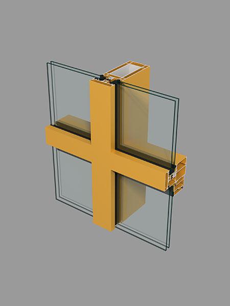 隔热幕墙立柱横梁型材简图汇总