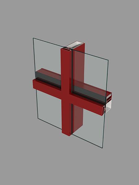 M110/55系列明框玻璃幕墙隔