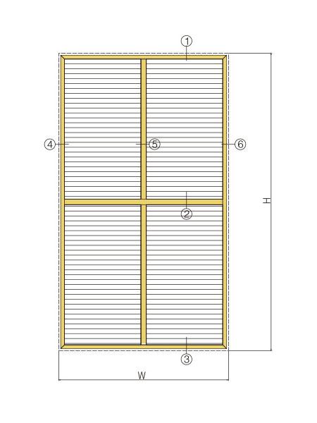百叶窗型材系列简图汇总