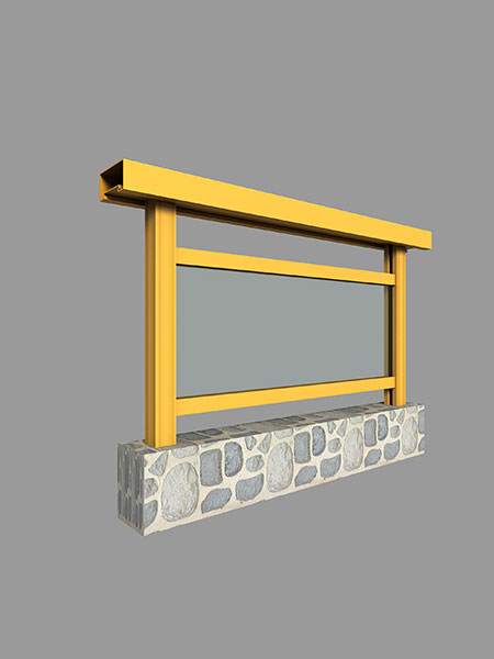 阳台栏杆扶手型材简图汇总